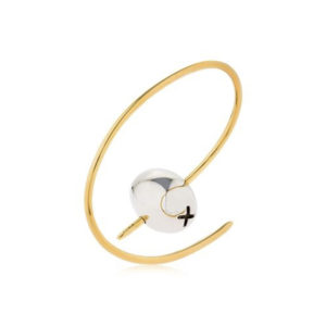 Bracelet Tapeo Silver and Gold SCH 376-1 - Back