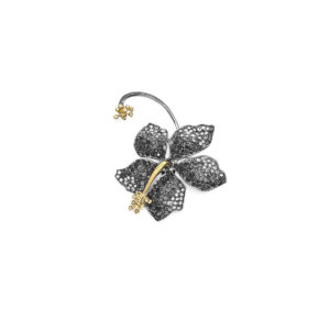 Earring Guillermina Black Diamond - SCH 455-3-left