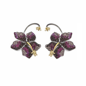 Earring Guillermina Burgundy - SCH 455-1