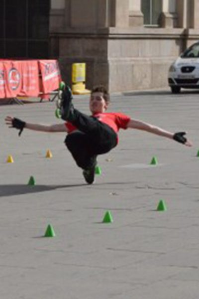 Adi monitor de la escuela de patinaje Rodats de Barcelona