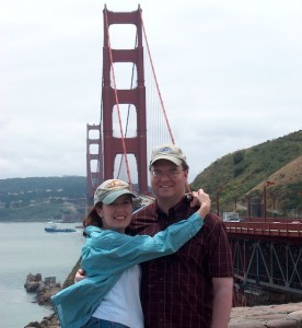 Sherri & Rod at the Golden Gate