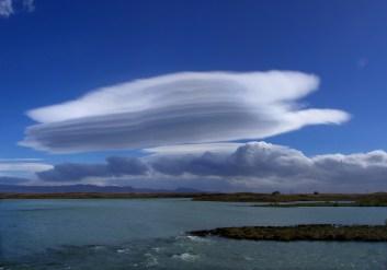 Lenticular cloud Djórsa River
