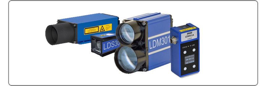 famiglia di distanziometri laser per misure di distanza, spessore, spostamento, deformazione e velocità