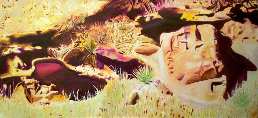 """Indian Head Rock"" 2013 - Oil on Canvas - 71"" x 32"""