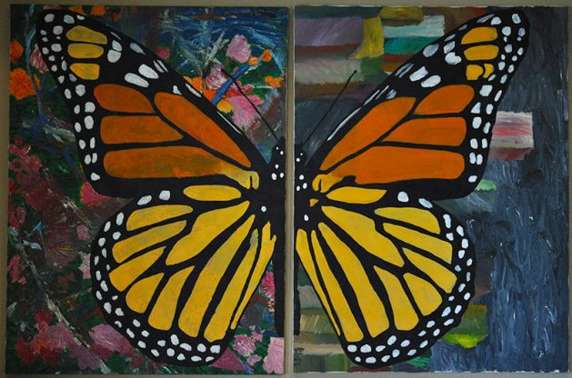 monarch diptych Oil Painting by Rodger Bliss