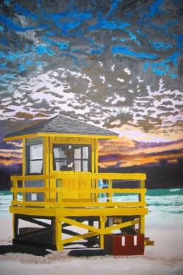 Skippy at Siesta Beach in Sarasota Florida by Rodger Bliss of Bradenton Florida