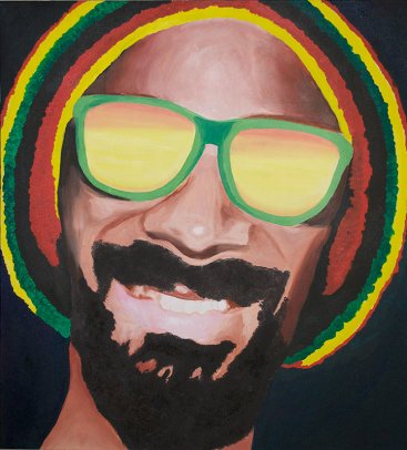 """Snoop Lion Zion"" 2013 - Oil on Canvas"