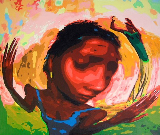 Voodoo Twirl Painting by Rodger Bliss