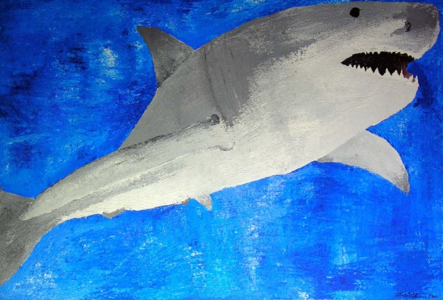 """Whiteshark"" 2001 - Acrylic on Canvas"