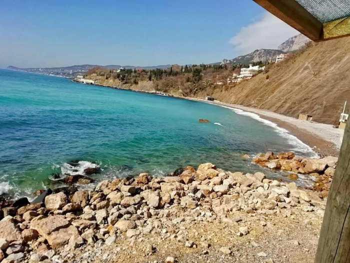 Фото дикого пляжа Имени монаха Бертольда Шварца Алупка3