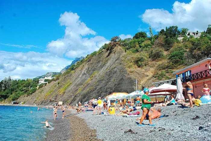 Фото пляжа Чёрный Бугор Алупка2
