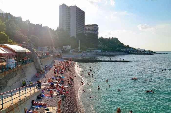 Фото платного пляжа санатория «Ай-Петри» Кореиз5