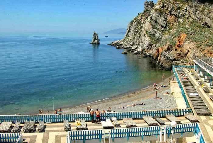 Фото пляжа санатория Жемчужина Гаспра2