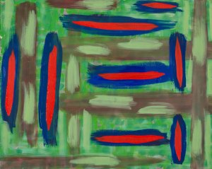 Possessed Painting in Cabin 501 Rod Jones Artist