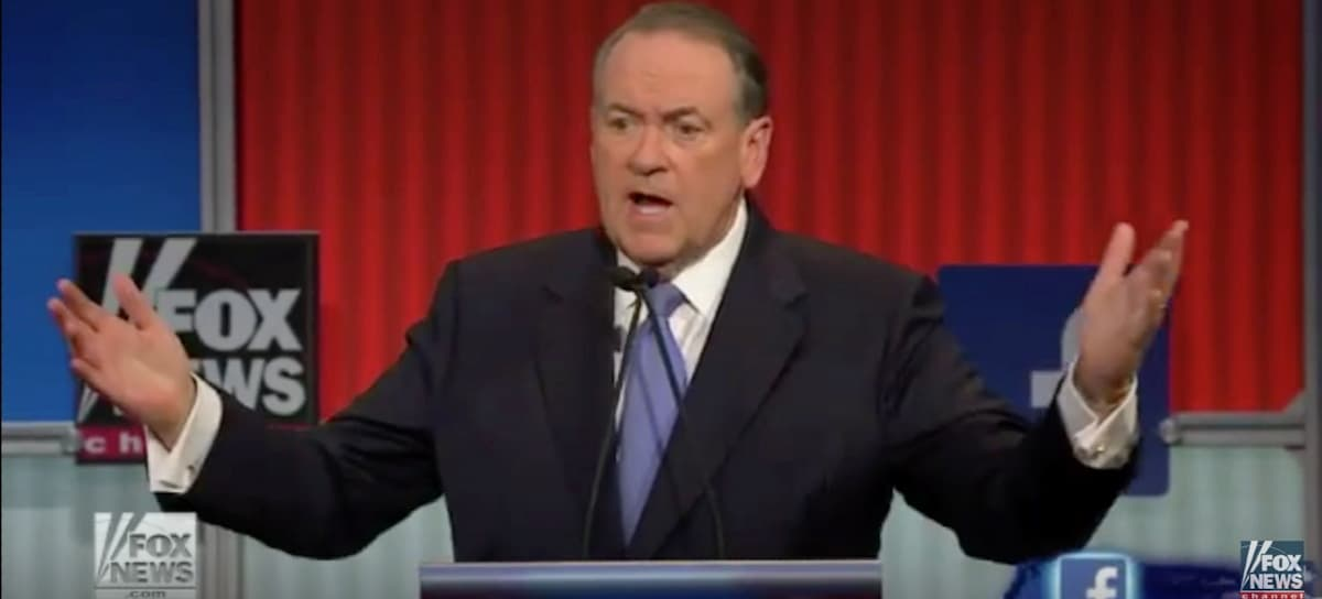 Huckabee's Wilberforce Moment