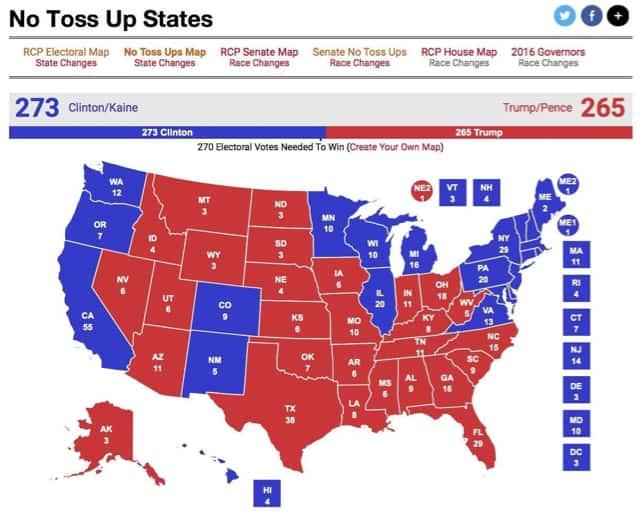 Electoral Map Nov. 3