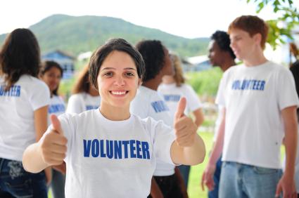 Girl Volunteering