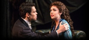 Rodney Ingram and Kaley Ann Voorhees in Phantom of the Opera on Broadway