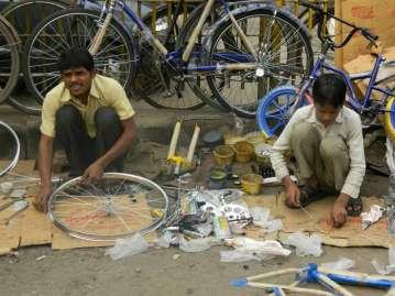 A Roadside Bike Shop in Old Delhi