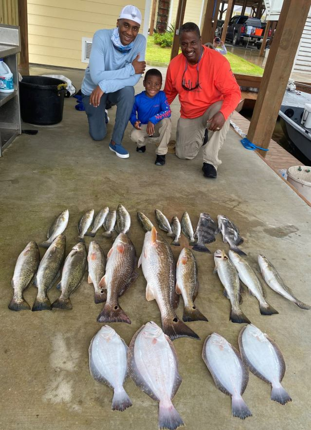 Friday was another day when our anglers had to dodge rain showers most of the morning.