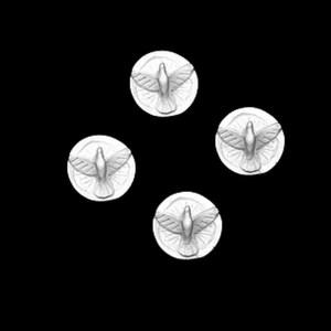 RESINA JOGO 4 MEDALHAS DIVINO-2,5X2,5CM