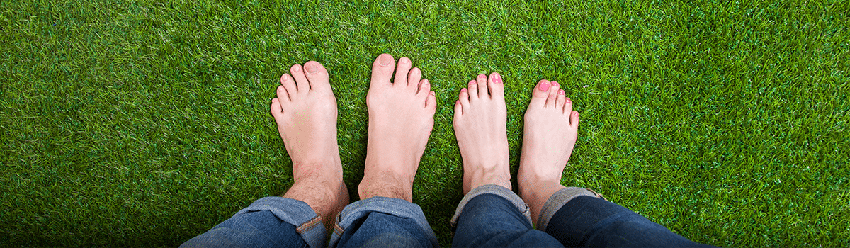 Picture of grass and feet