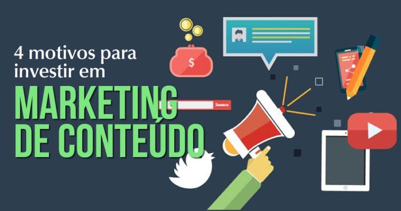 4 motivos para investir em marketing de conteúdo