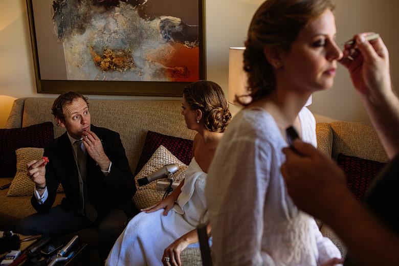Fotografia descontracturada de casamiento