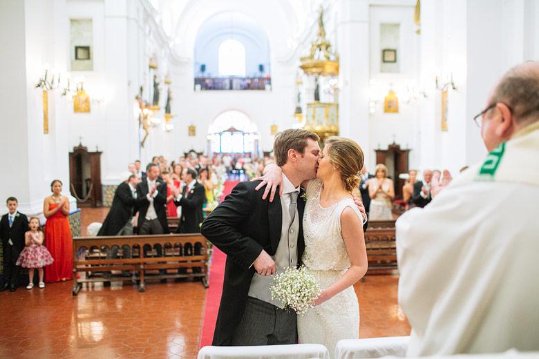 Fotografias de casamiento en la Iglesia del Rosario en Recoleta