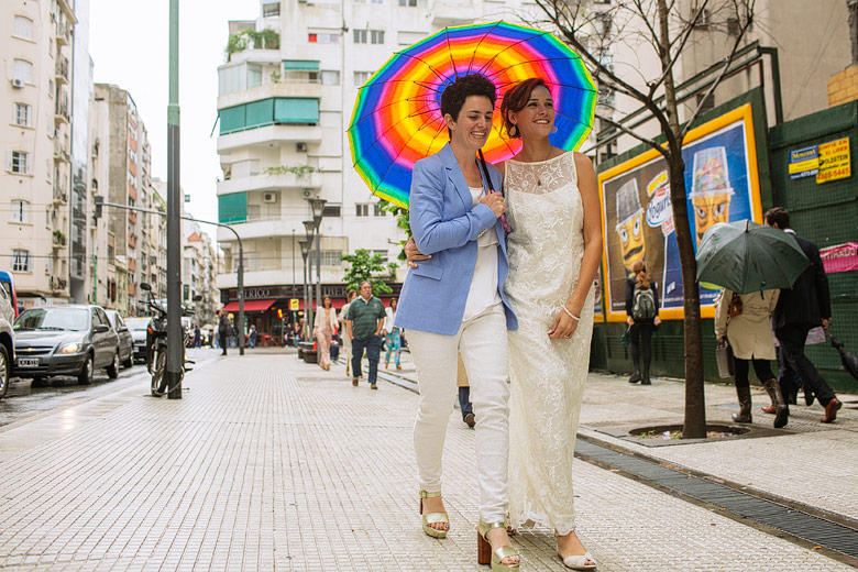 Photos of Gay wedding in Buenos Aires