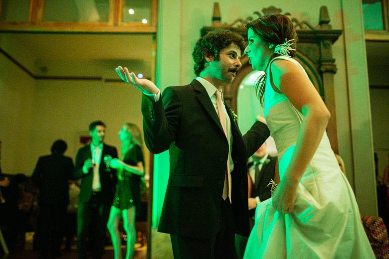 foto de casamiento sin flash