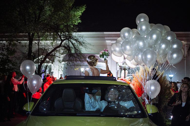 Casamiento suelta de globos