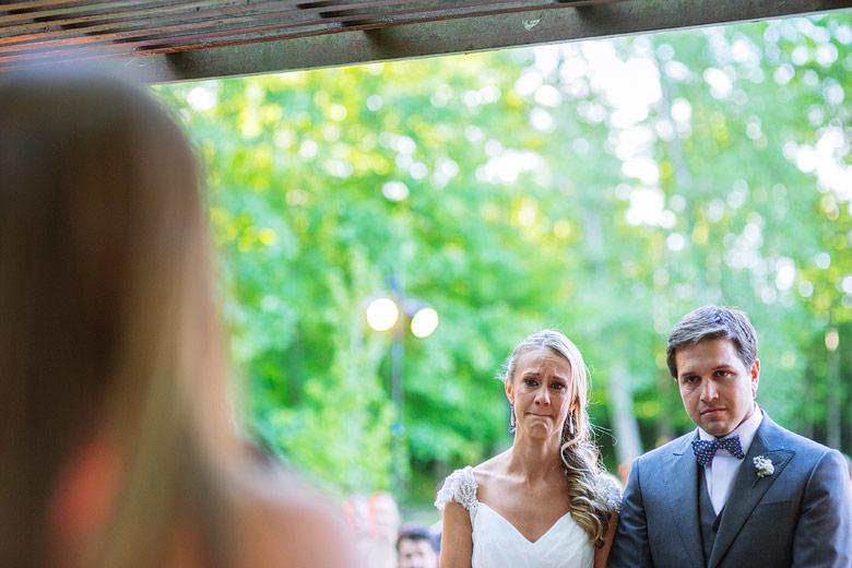 Ceremonia emotiva de casamiento
