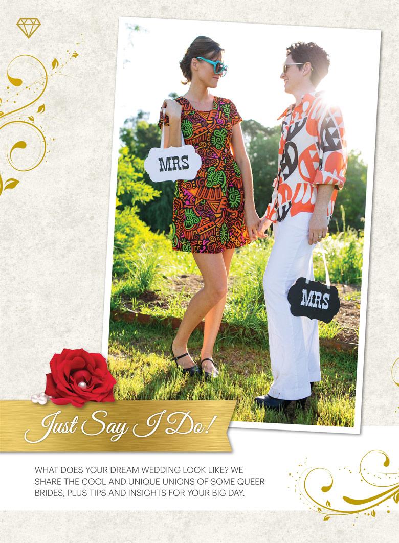 Queer brides in curve magazine