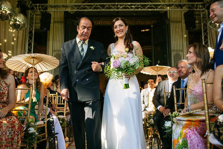 ceremonia de matrimonio en jardin de invierno del palacio sans souci