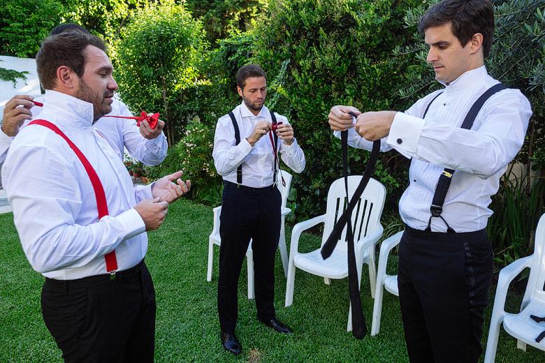 preparativos antes del casamiento