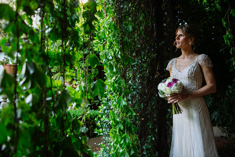 retrato de novia en hotel del casco san isidro