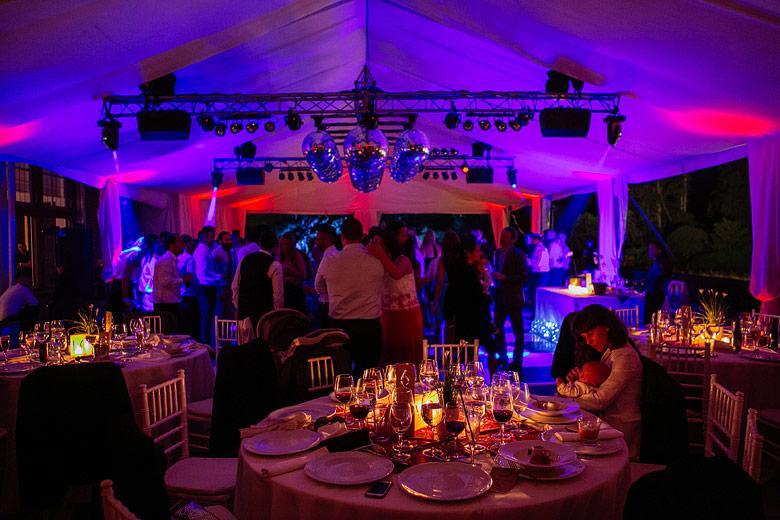 ambientacion de casamiento en Estancia Santa Elena
