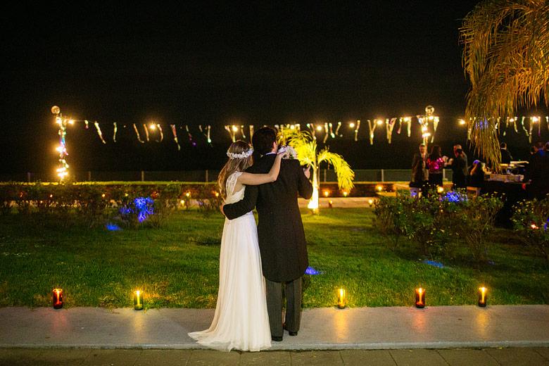 casamiento de noche bahia punta chica