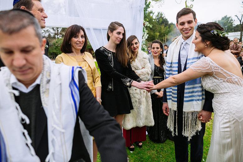 boda con ceremonia judia