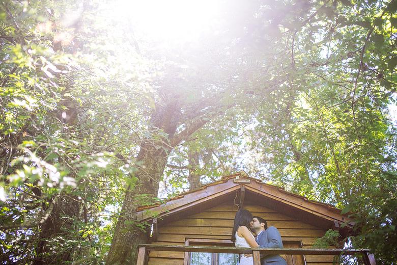 fotos de novios en casita del arbol