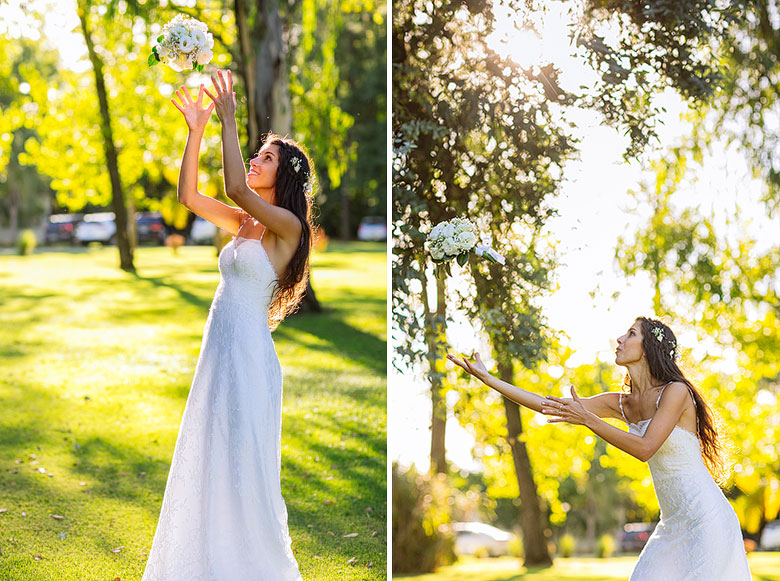 novia con su vestido ines duggan