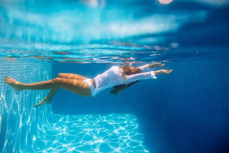 sesion de fotos bajo el agua