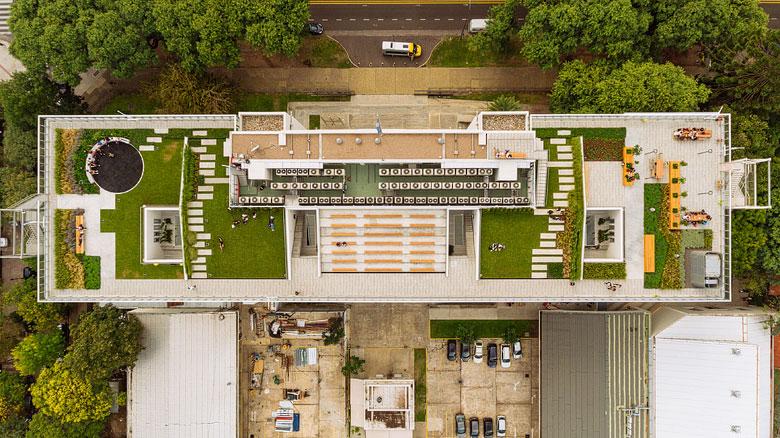 fotografia de obra desde el aire drone