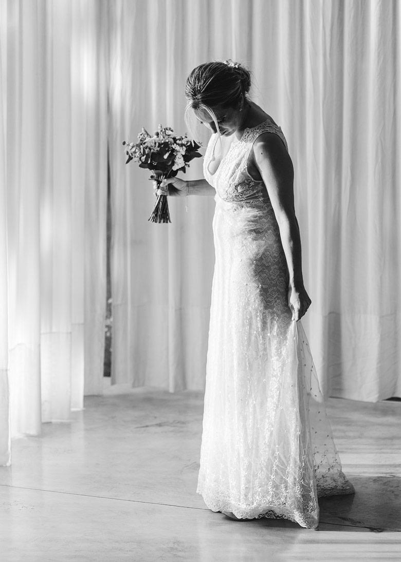 vestido de novia por pia carregal
