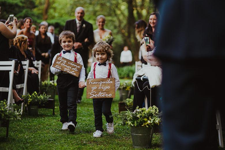 carteles entrada novia niños