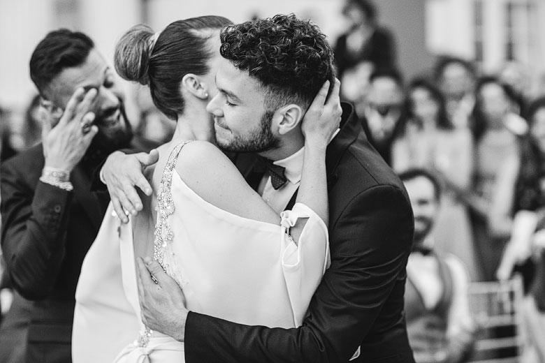 foto emotiva de casamiento