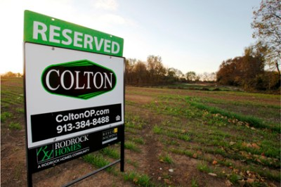 Reserved sign for Colton Community