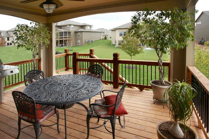 Covered Deck of a homeowners home.