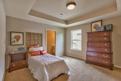 El Dorado secondary bedroom with boxed ceiling